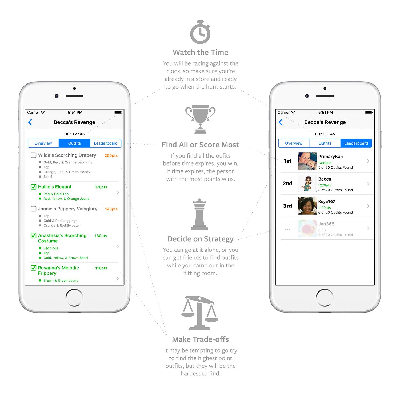 FindFitFast Scavenger Hunt Leaderboard Screen