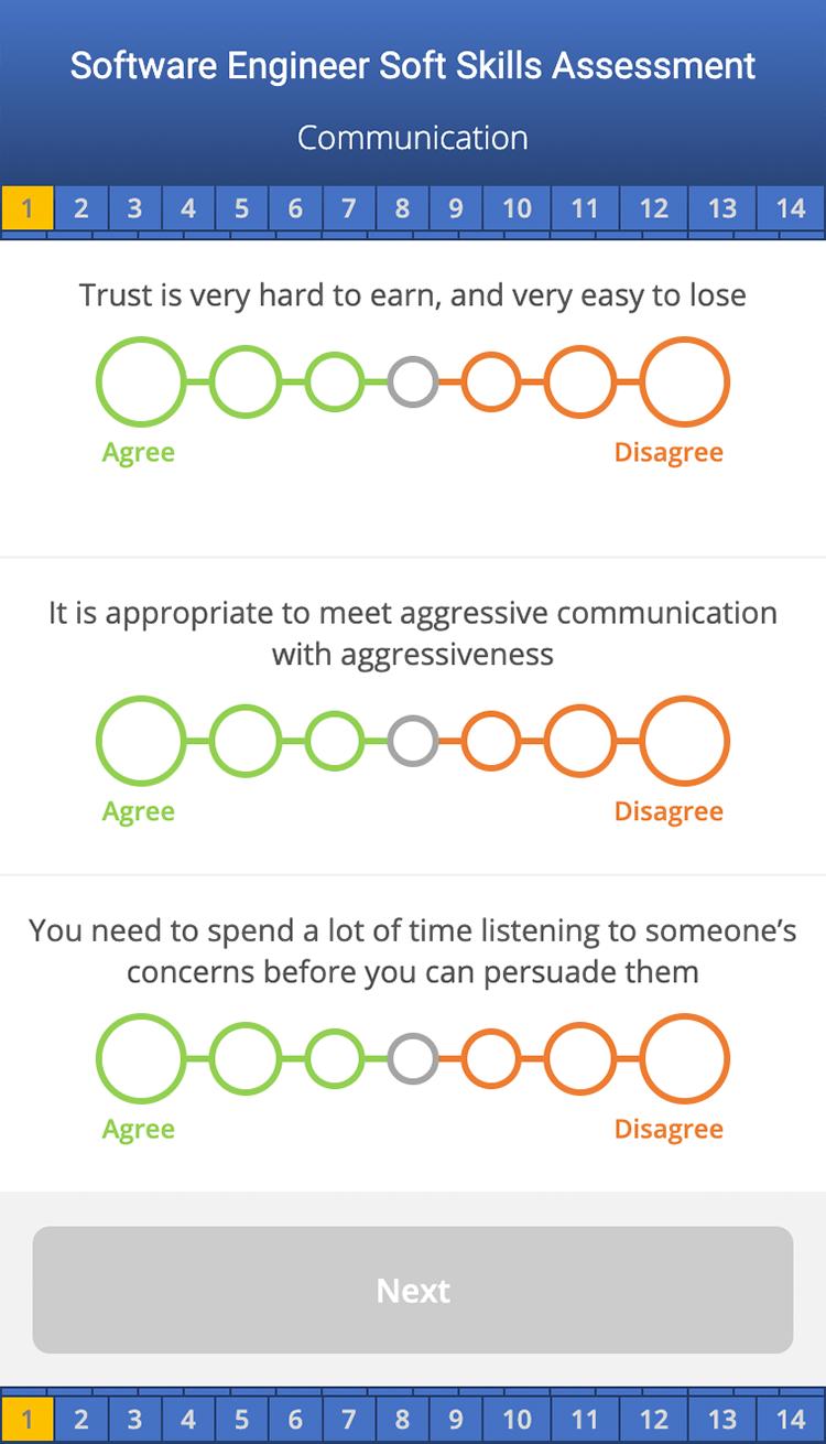 Soft Skills Assessment Screenshot