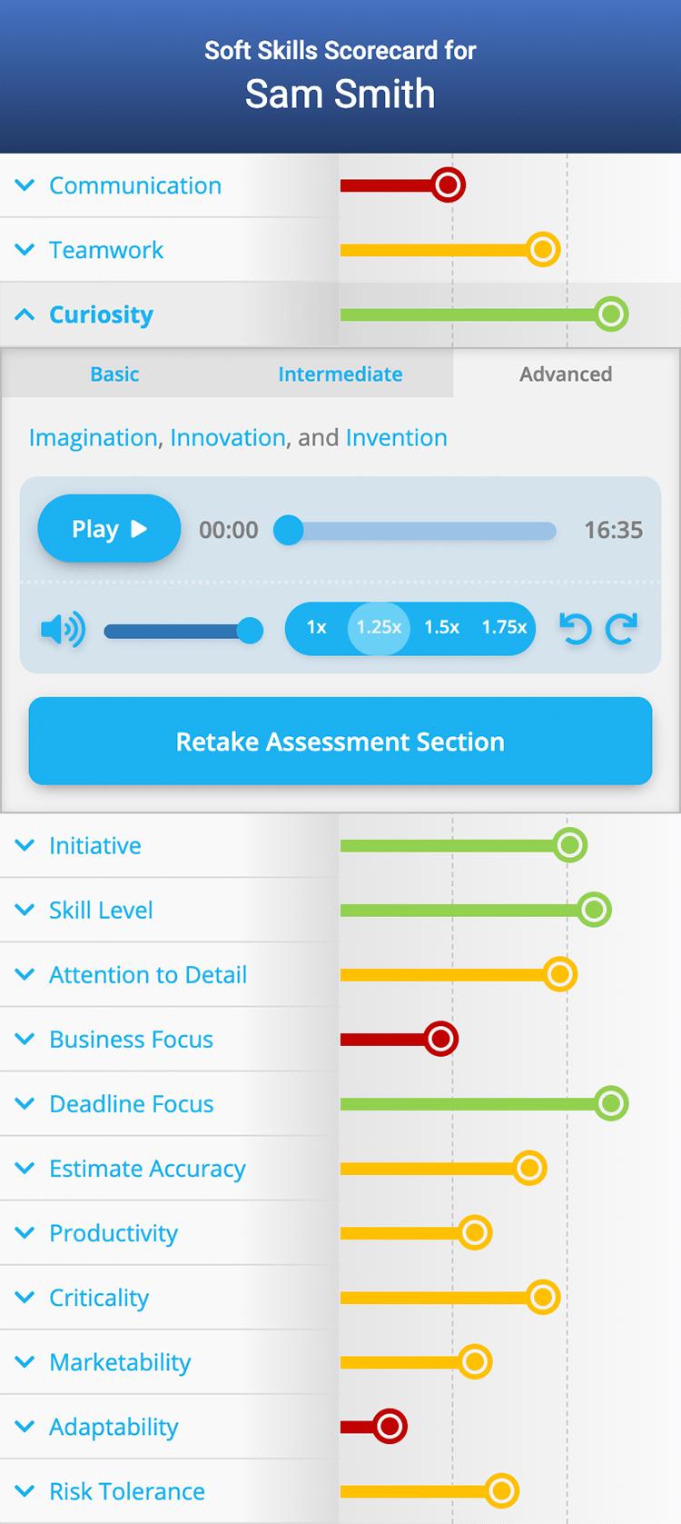 Soft Skills Scorecard Screenshot
